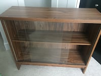 Tv stand with sliding glass doors  Surrey, V4N 2E7
