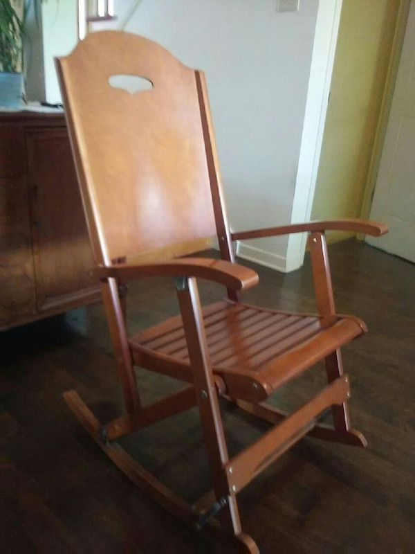 Antique Rocking Chair In Wood