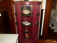 Bow front curio