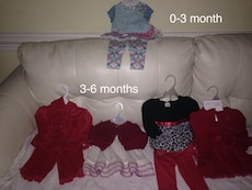 Girls 0-3 month & 3-6 month outfits