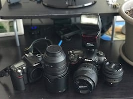 Nikon D7000, Nikon D90 + 3 lenses and SpeedLight SB-600