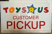 "RARE Toys ""R"" Us vintage customer pick up sign."