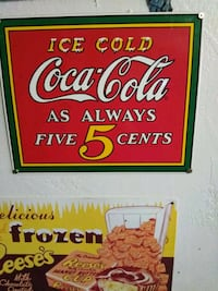 Ice Cold Coca-Cola wall decor