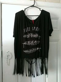 black and white scoop-neck long-sleeved shirt El Paso, 79907