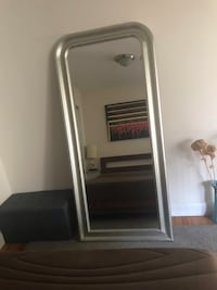 Silver Framed mirror  New York, 10011