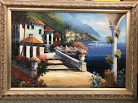 Beautiful canvas painting. Frame  31 H x 43 W. HUNTINGTN BCH, 92646
