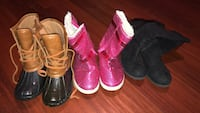 Girls lot of winter boots. Size 1.5 and 2. 1016 mi