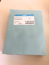Paper. Card stock. 65lb. Pastel blue color. Brand new! Vancouver, V6B 8P5