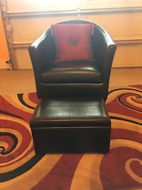 Black leather chair with ottoman North Charleston, 29485