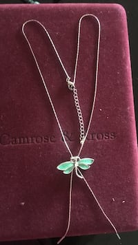 silver-colored chain link necklace with butterfly Gaithersburg, 20878
