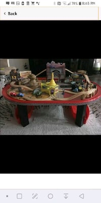 Cars wooden race track table