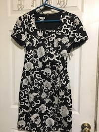 black and white floral scoop-neck dress Akron, 44307