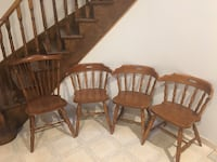 4 Wooden Chairs Richmond Hill, L4B 2Z9