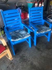 2 blue chairs Houston, 77073