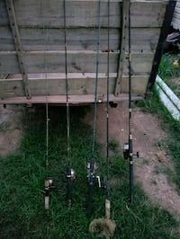 two black and brown fishing rods Liberty, 29657