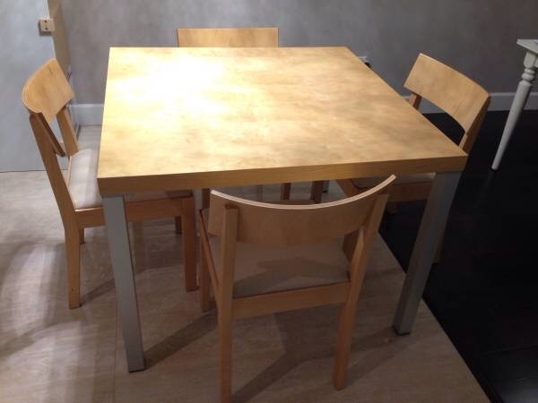 Eq3 Birch Veneer Dining Table No Chairs