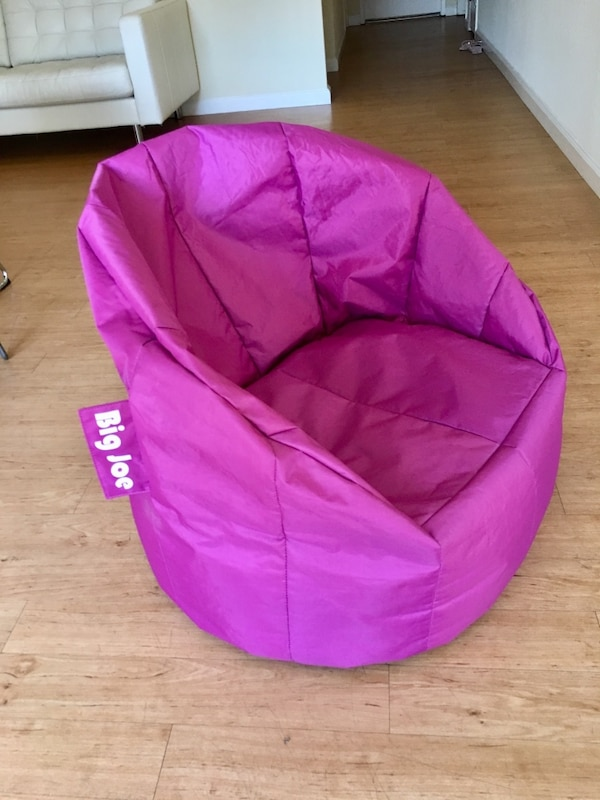 New Joe Milano Fuchsia Pink Bean Bag Chair