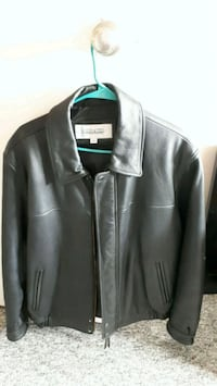 Leather mens jacket