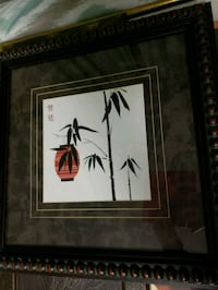 black wooden framed painting of bamboo  Brampton, L6S 2N7