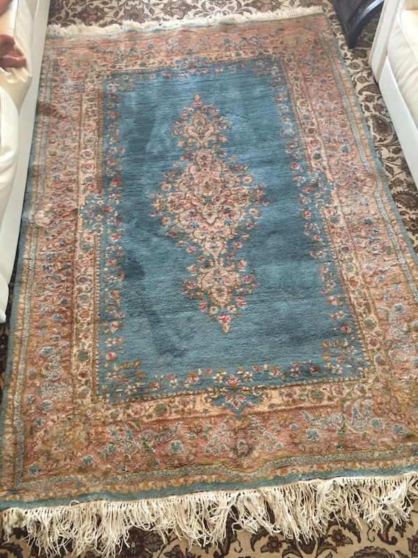 Persian handmade pastel blue rug 5x7ft excellent condition