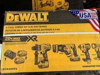 DEWALT XR 20-Volt Max 4-Tool Brushless Power Tool Combo KIt