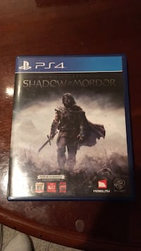 Shadow of Mordor PS4 game case Great Falls, 59404