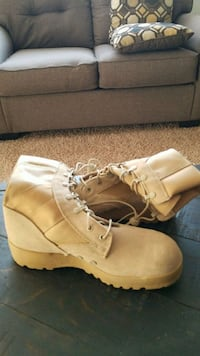 pair of brown suede combat boots Urbandale, 50322