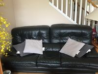 Genuine leather sofa set Port Coquitlam