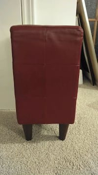 Red leather stool or accent piece Toronto