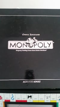 Monopoly Onyx Special Limited Edition Board Game - Rare 2006 Manassas