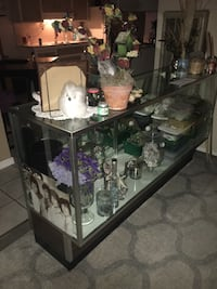 Brown wood/ Glass display cabinet Campbell, 95008