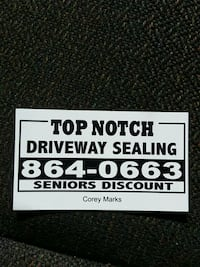 Top Notch Driveway Sealing Riverview, E1B 5J9