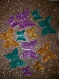 lotto di decori di farfalle glitter assortiti