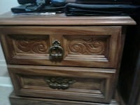 brown wooden 2-drawer NIGHT TABLE  Scarborough, M1E