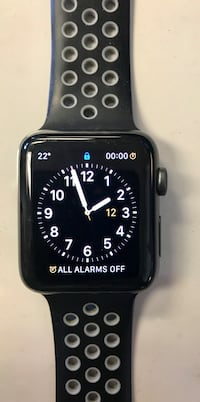Black apple watch with black sports band Toronto, M6M