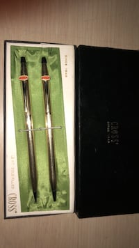 CROSS 12kt GOLD FILLED PEN AND PENCIL SET $40 null
