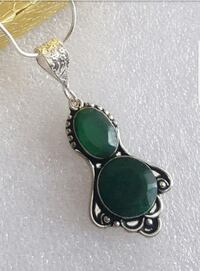 RAW EMERALD GEMSTONE NECKLACE NEW Kirkland