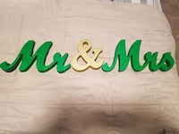 Hand painted Mr & Mrs sign Frederick, 21703