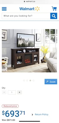 "Walker Edison 58"" fireplace TV stand Mississauga, L5R 2A7"