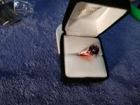 (New) Simulated Amethyst RG over SS Ring Stafford, 22556