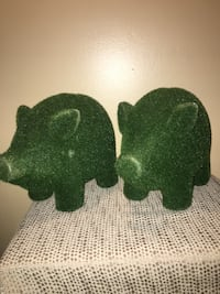 2 Grass Covered Piggy Banks Urban Outfitters