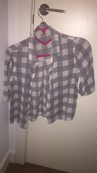 Camisa de cuadros semi transparente de Abercrombie and Fitch talla s Madrid, 28033