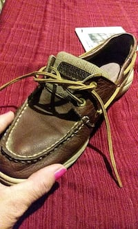 pair of brown-and-black Sperry shoes Dallas, 75217