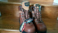 Brand new pair of Wolverine steel toe, size 10.5 White Oak