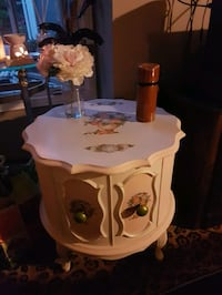 Antique side table .