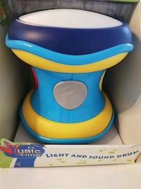 Baby toy drum with light and sound