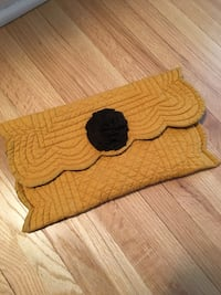 Handmade Yellow Mustard Cloth Clutch, Spring, unique.  Robbinsdale, 55422