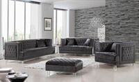 Lucas Grey Velvet Living Room Set | MF-609GREY by Meridian Furniture       Missouri City, 77489