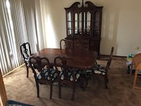 Dining room table chairs and Hutch Spring Hill