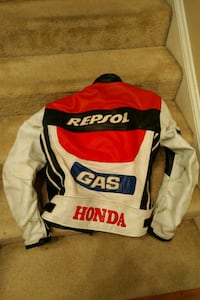 Repsol Leather Motorcycle Racing Jacket
